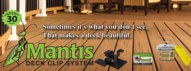 Mantis Hidden Deck Fasteners Pan American Screw